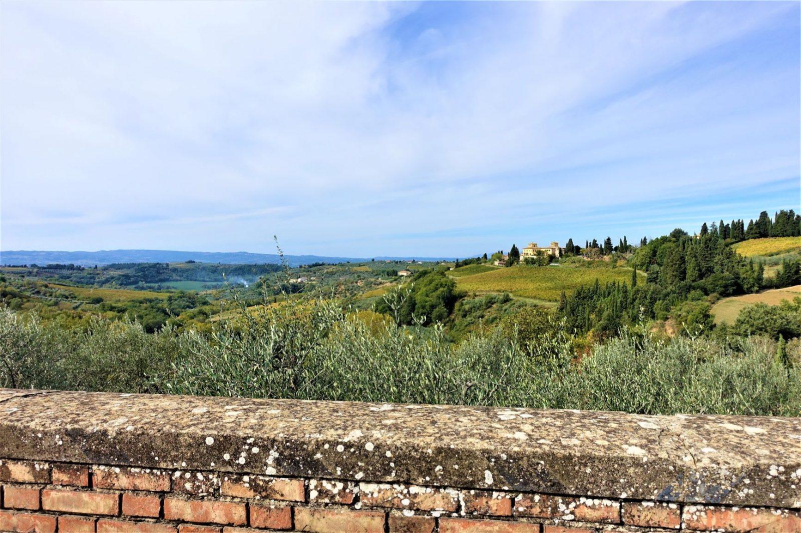 Fantastisk utsikt over Toscana
