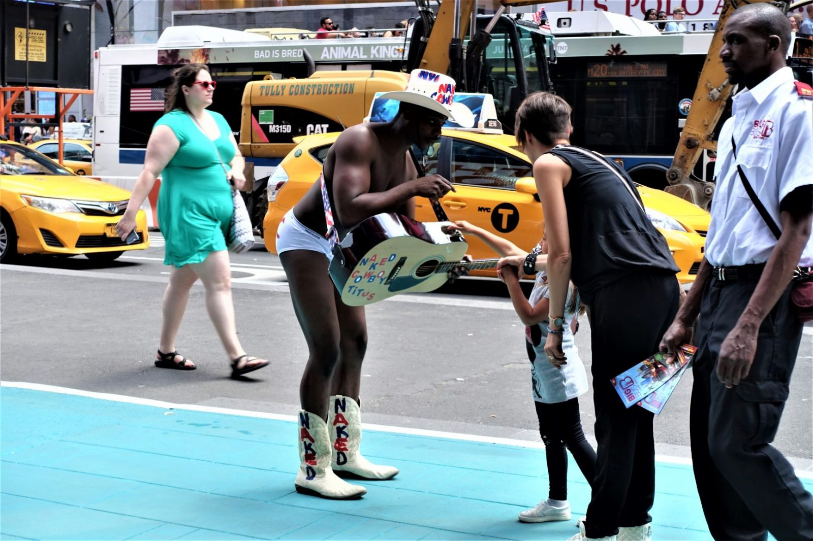 underholdning på Time Square New York