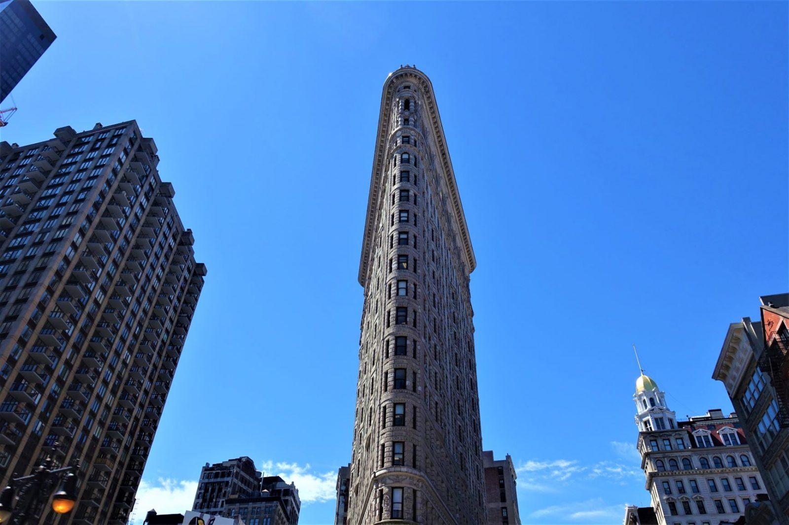 trekantet supersmalt bygg i new york