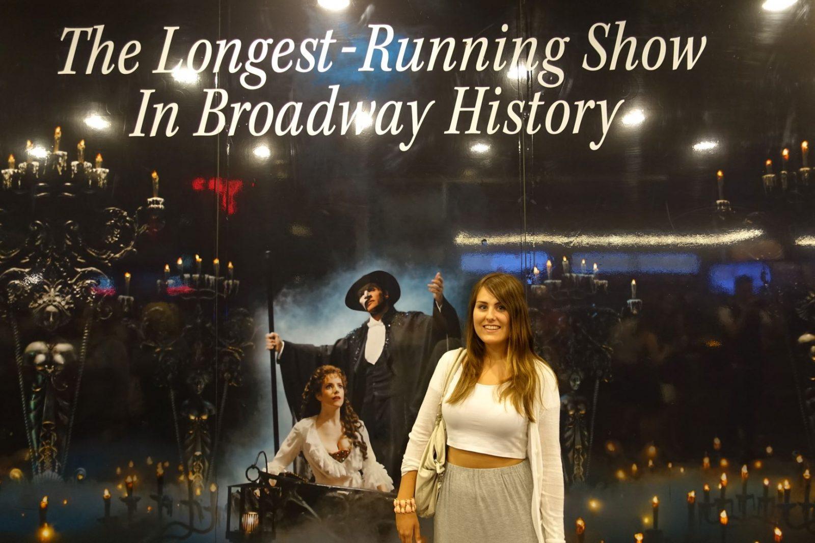 Broadway New York phantom of the opera Michelle Aavitsland
