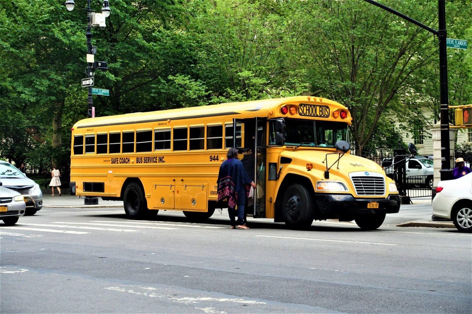 En amerikansk skolebuss