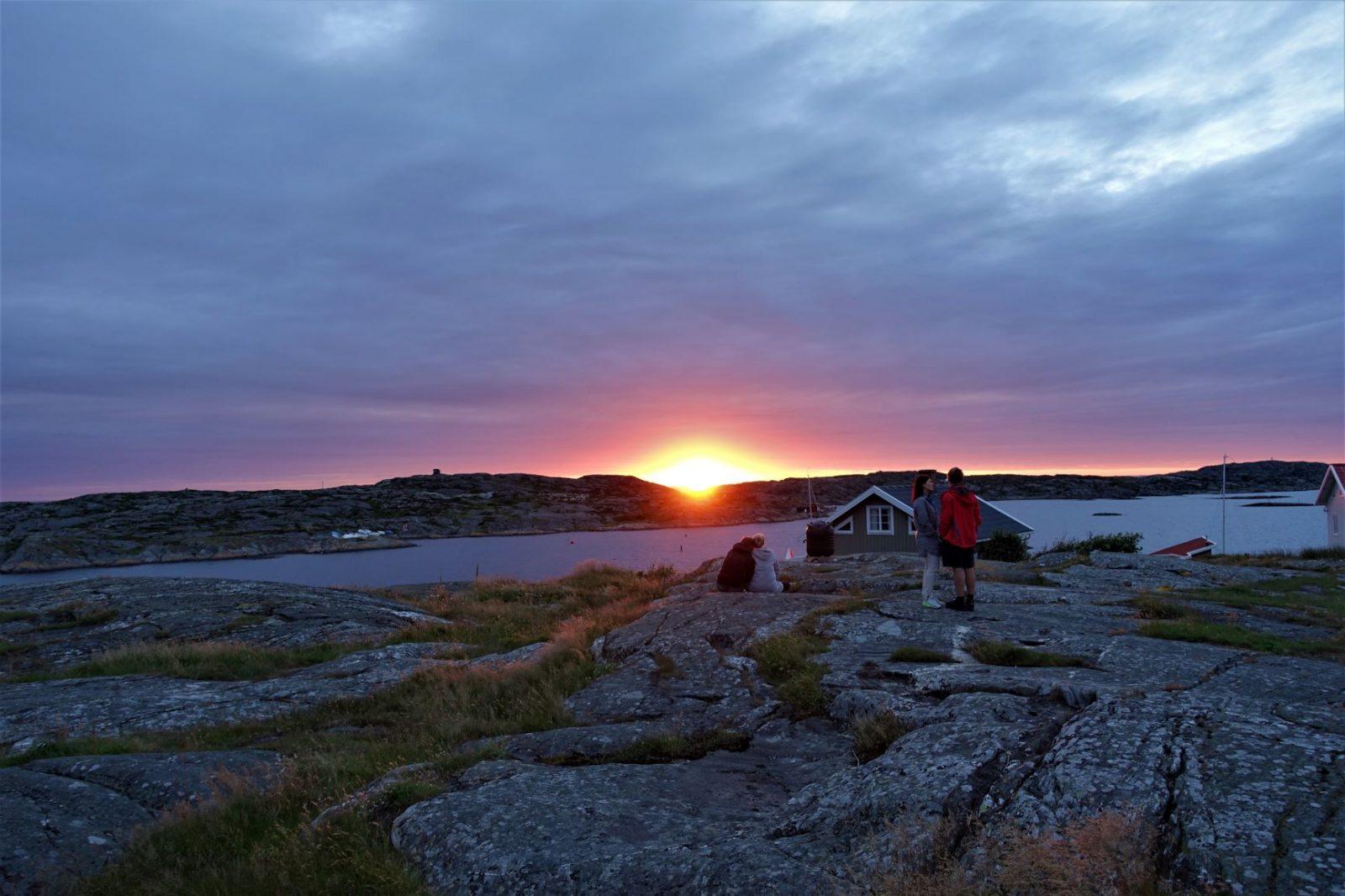 Solnedgang på Kjerringøya svenskekysten