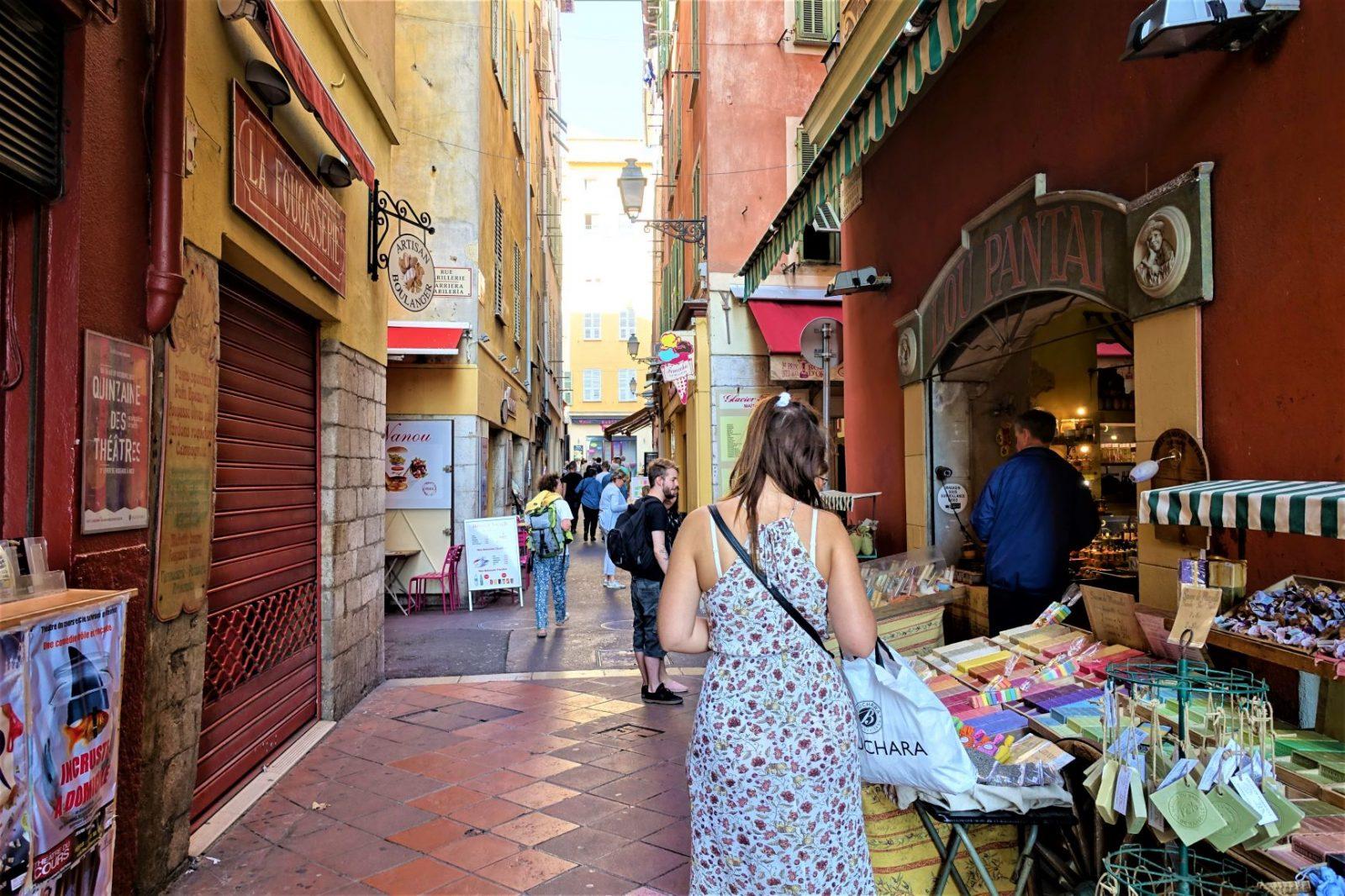 på shopping i Nice