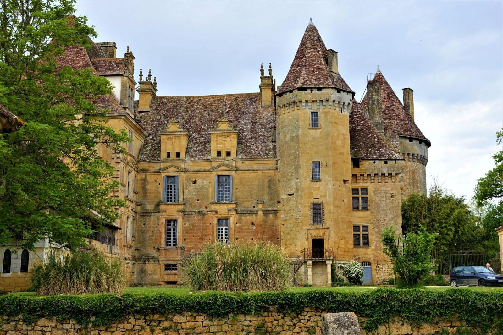 Vakkert slott i Frankrike