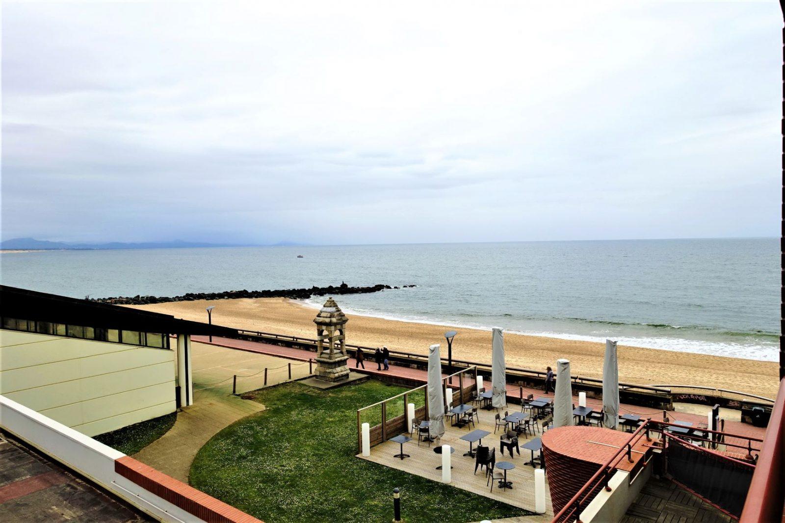 utsikt fra hotellrommet vestkysten frankrike