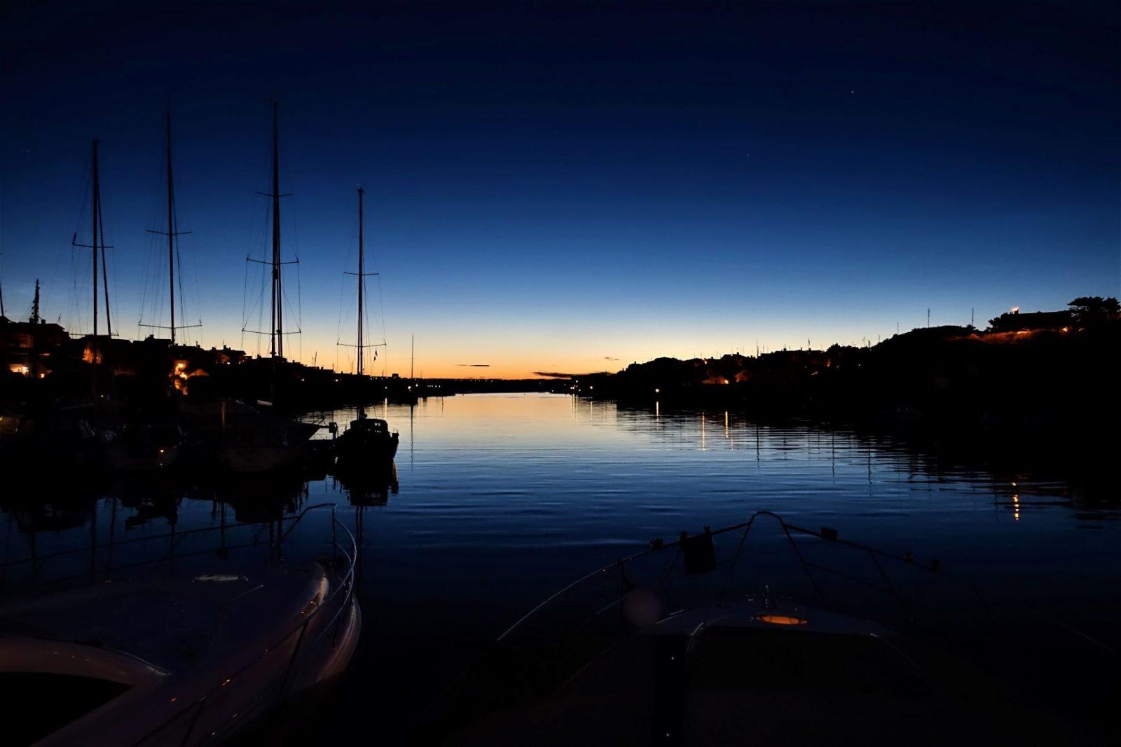 solnedgang i Fiskebäckskil