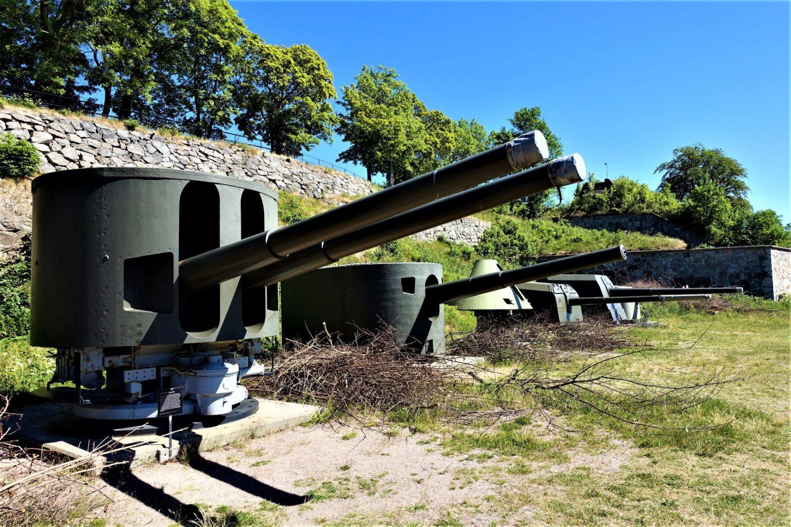 samling kanoner oscarsborg