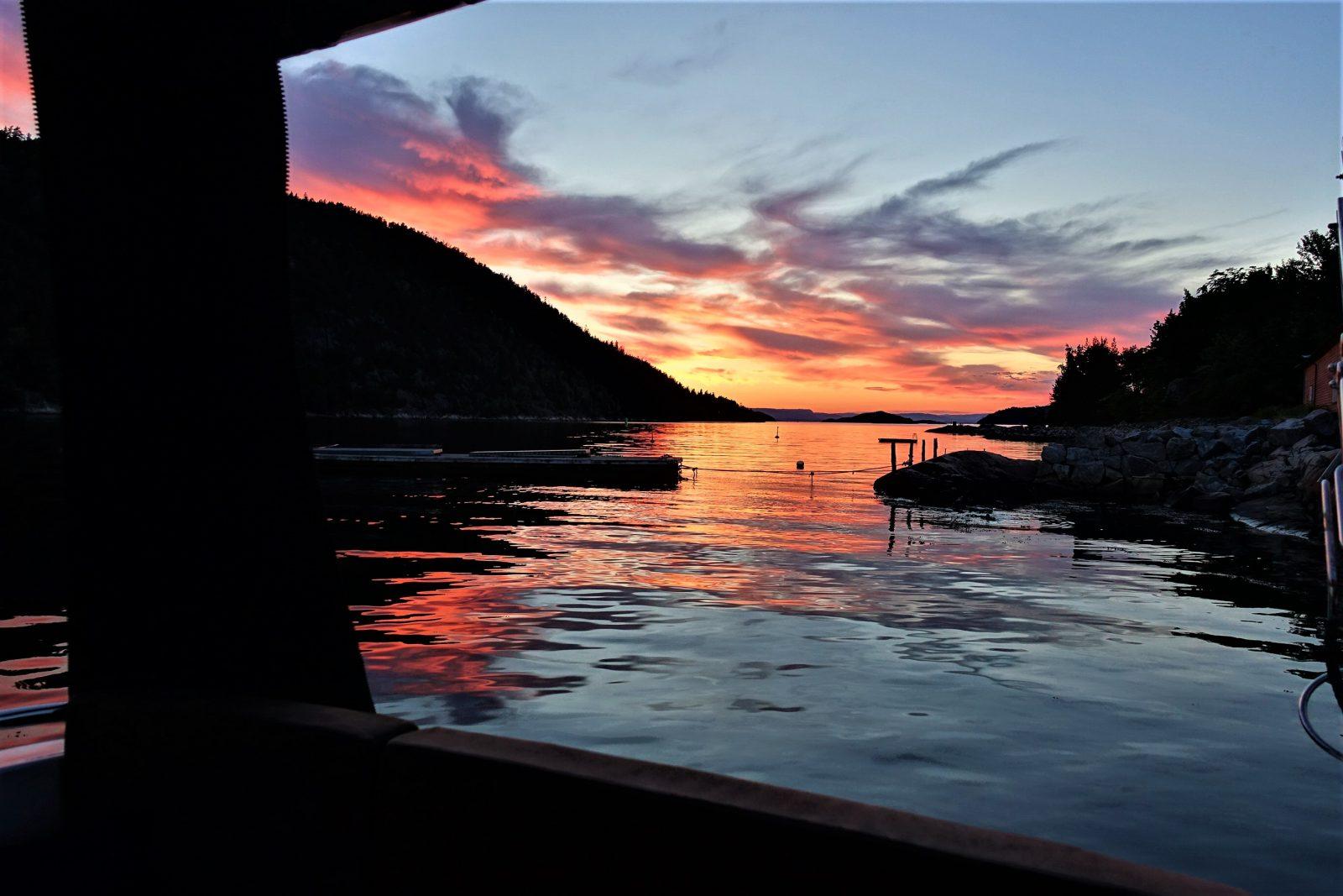 Solnedgang på Oscarsborg
