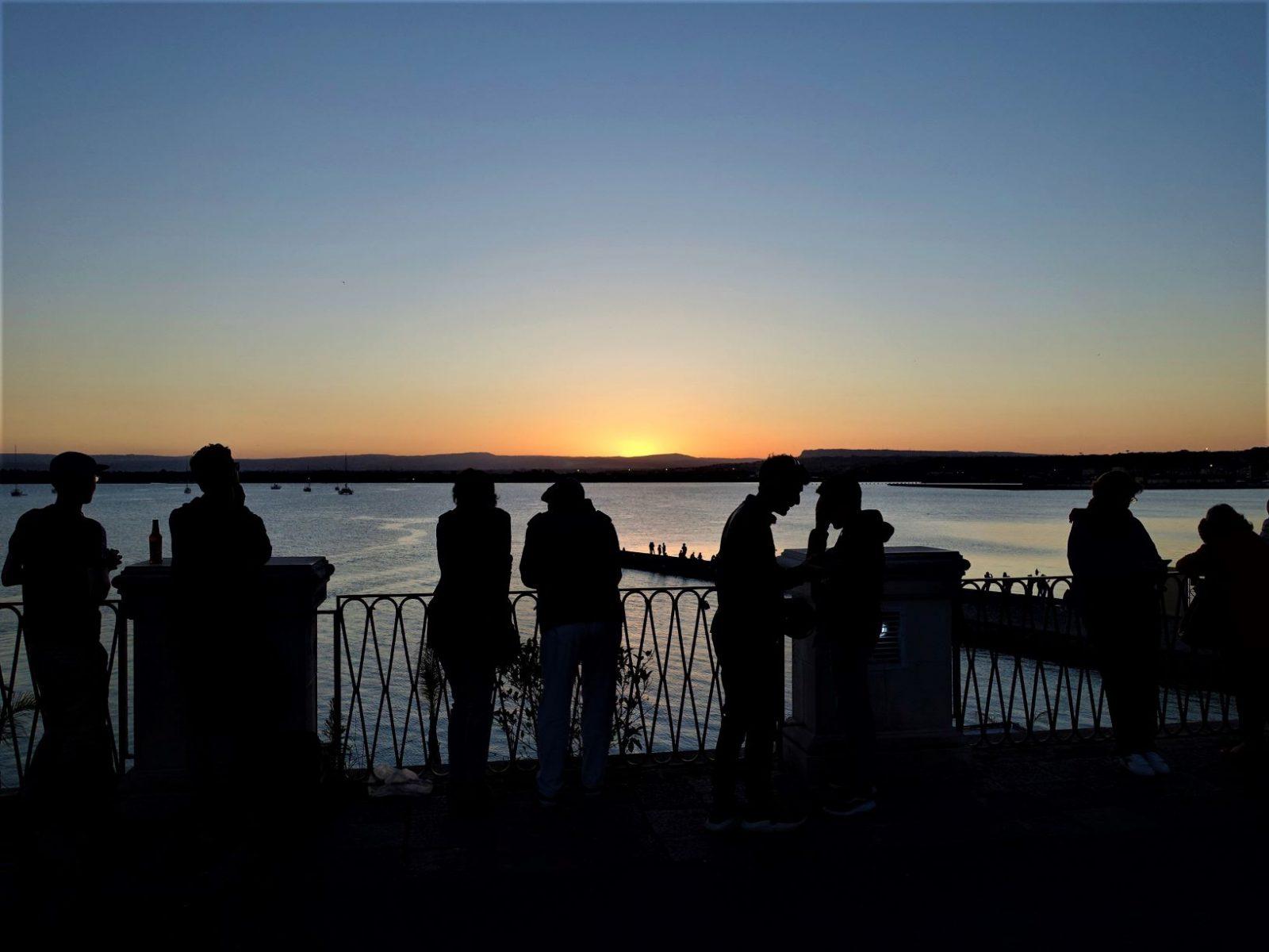 Solnedgang i Siracusa