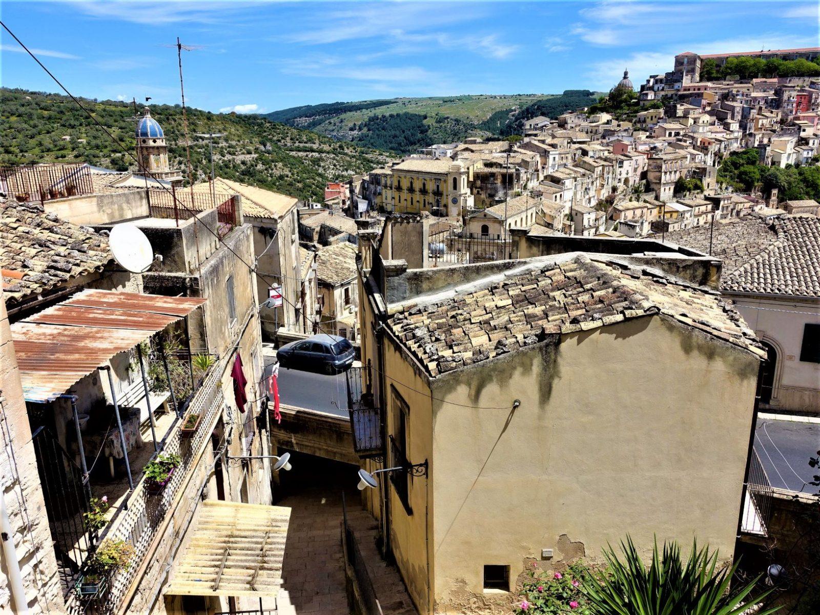 Utstikt fra byen Ragusa UNESCO verdensarveliste
