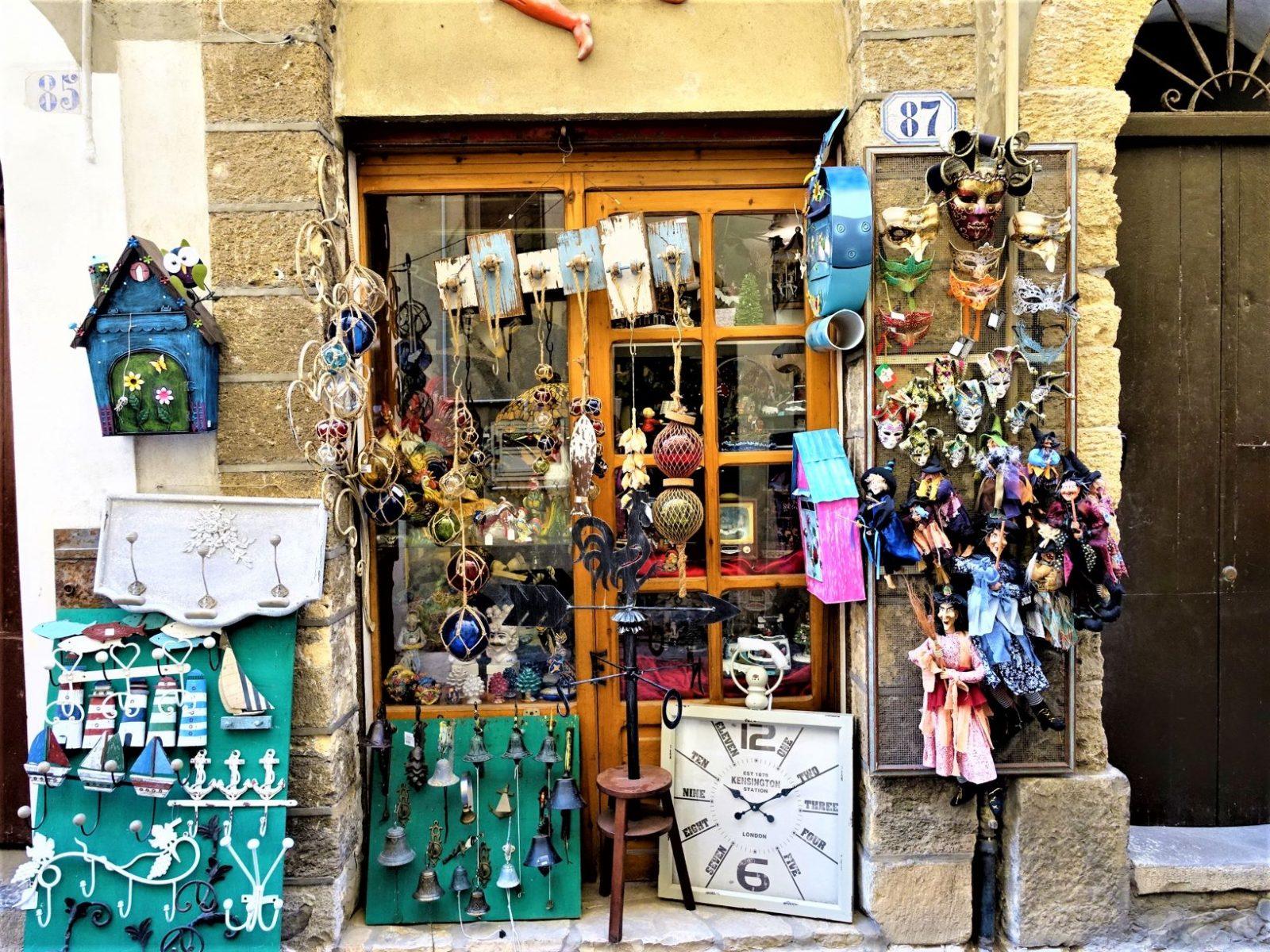 shopping i Cefalu