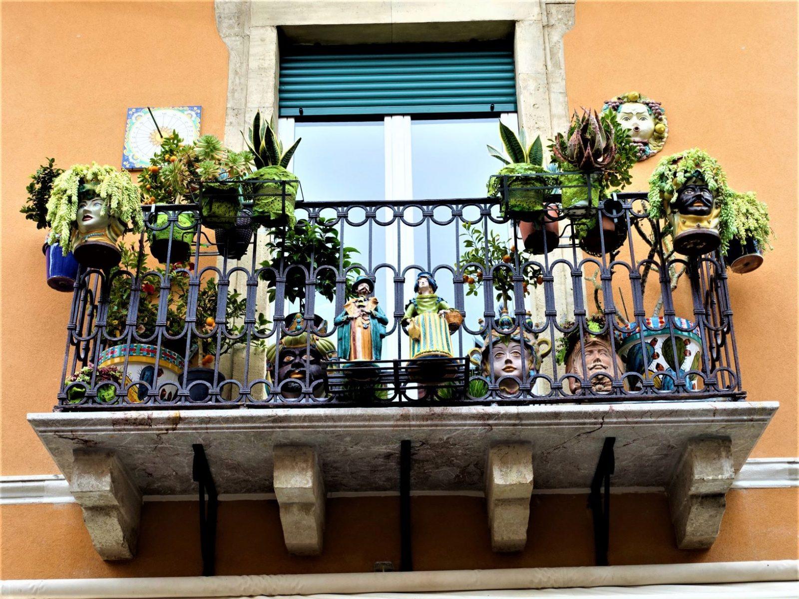 Terrasse Taormina Sicilia