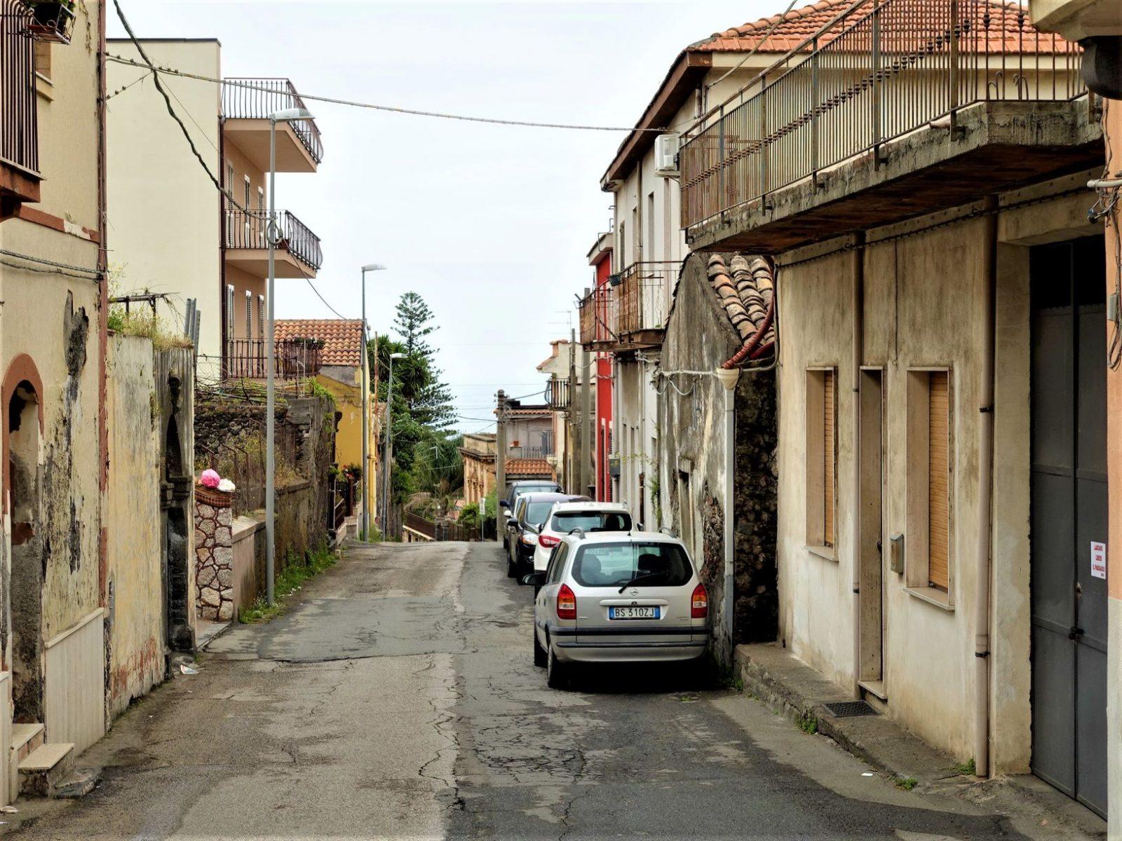 Liten landsby Catania sicilia