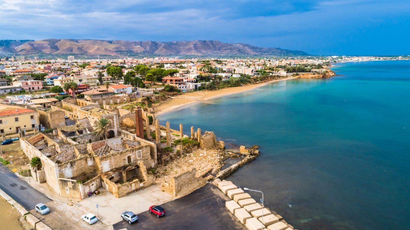 Avola en by på Sicilia
