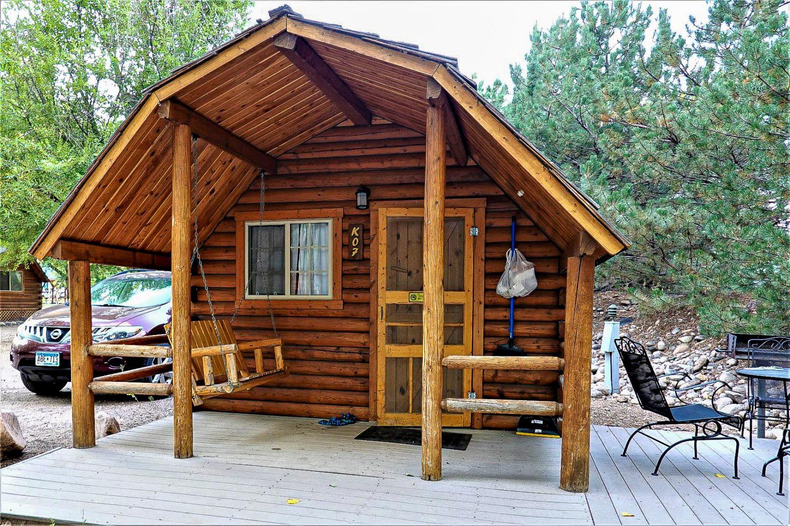 utleiehytte i usa på Koa camping