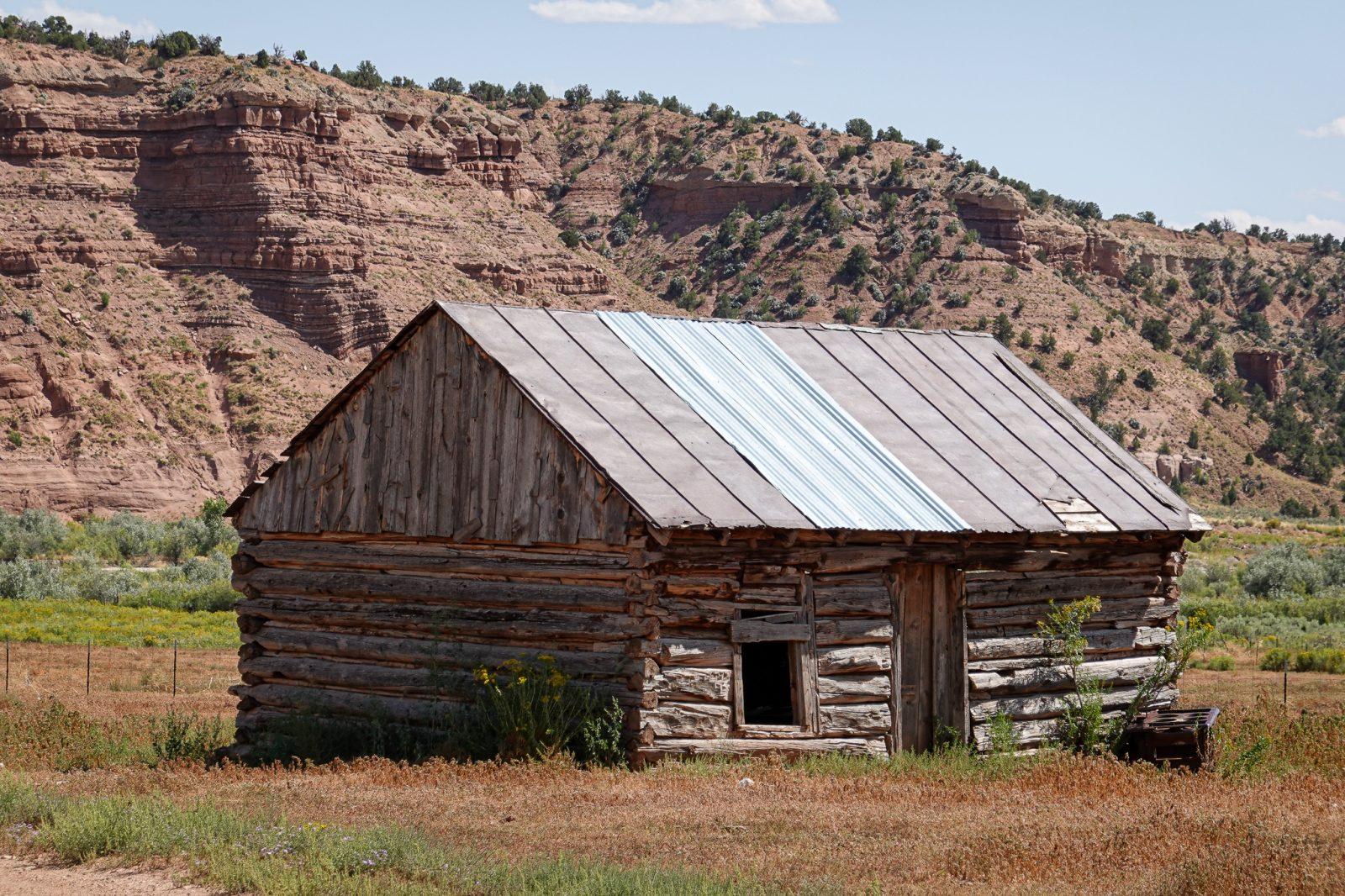 laftet hytte i USA