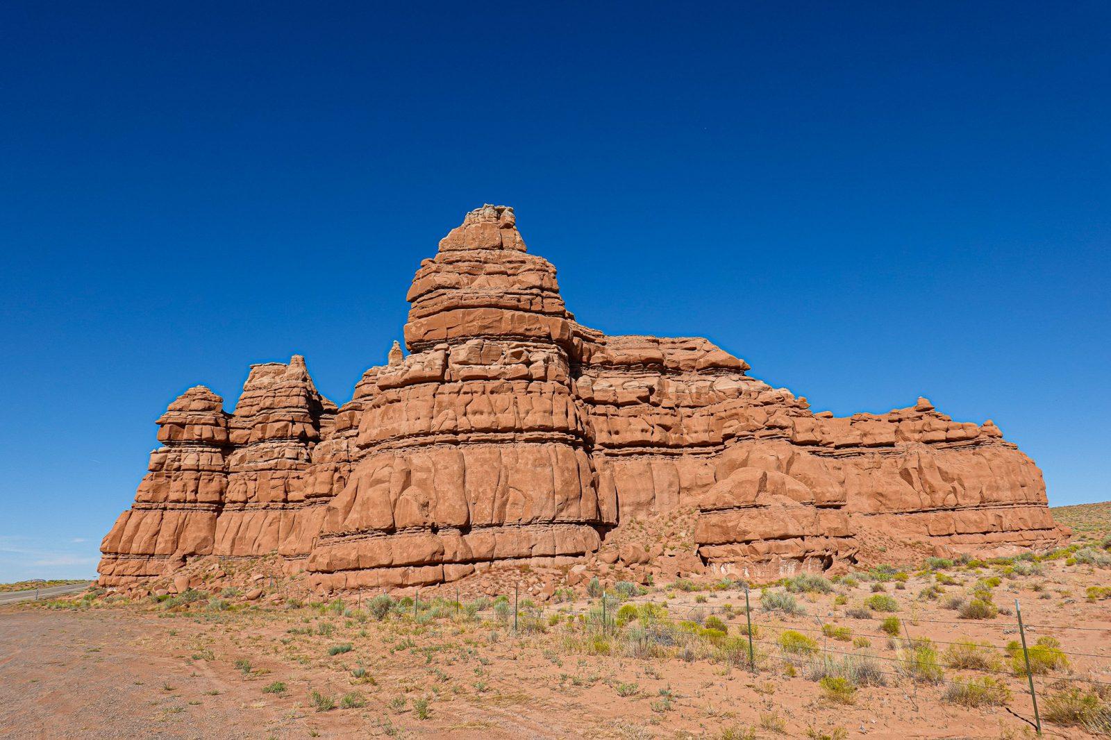 fjellvegg i Moab, Utah USA