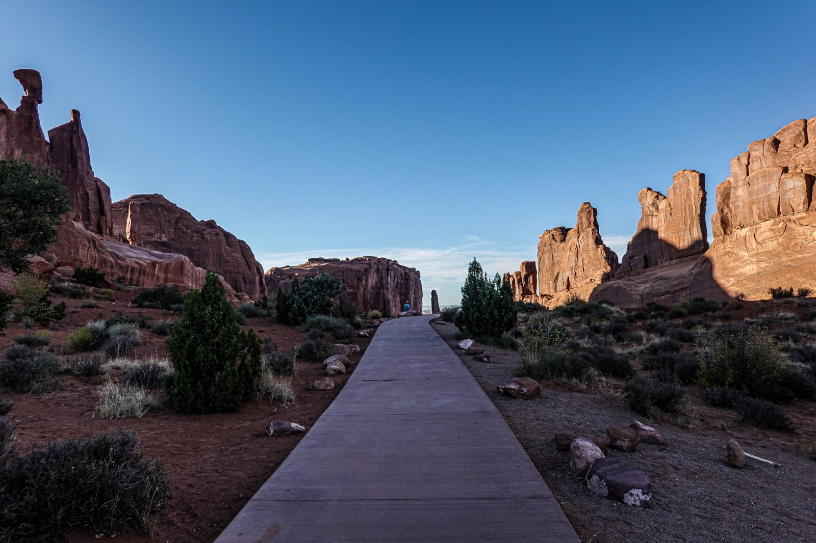 Solnedgang i Arches nationalpark