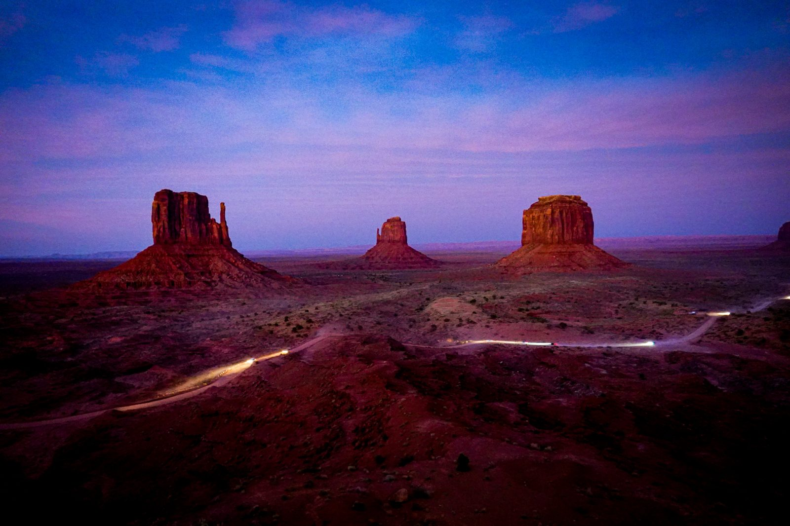 Solnedgang Monument Valley