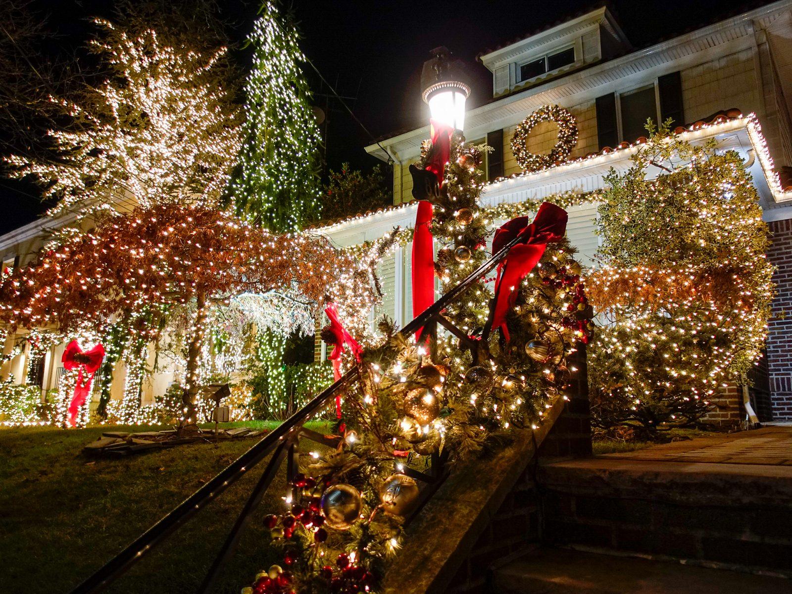 dekorert hus til jul
