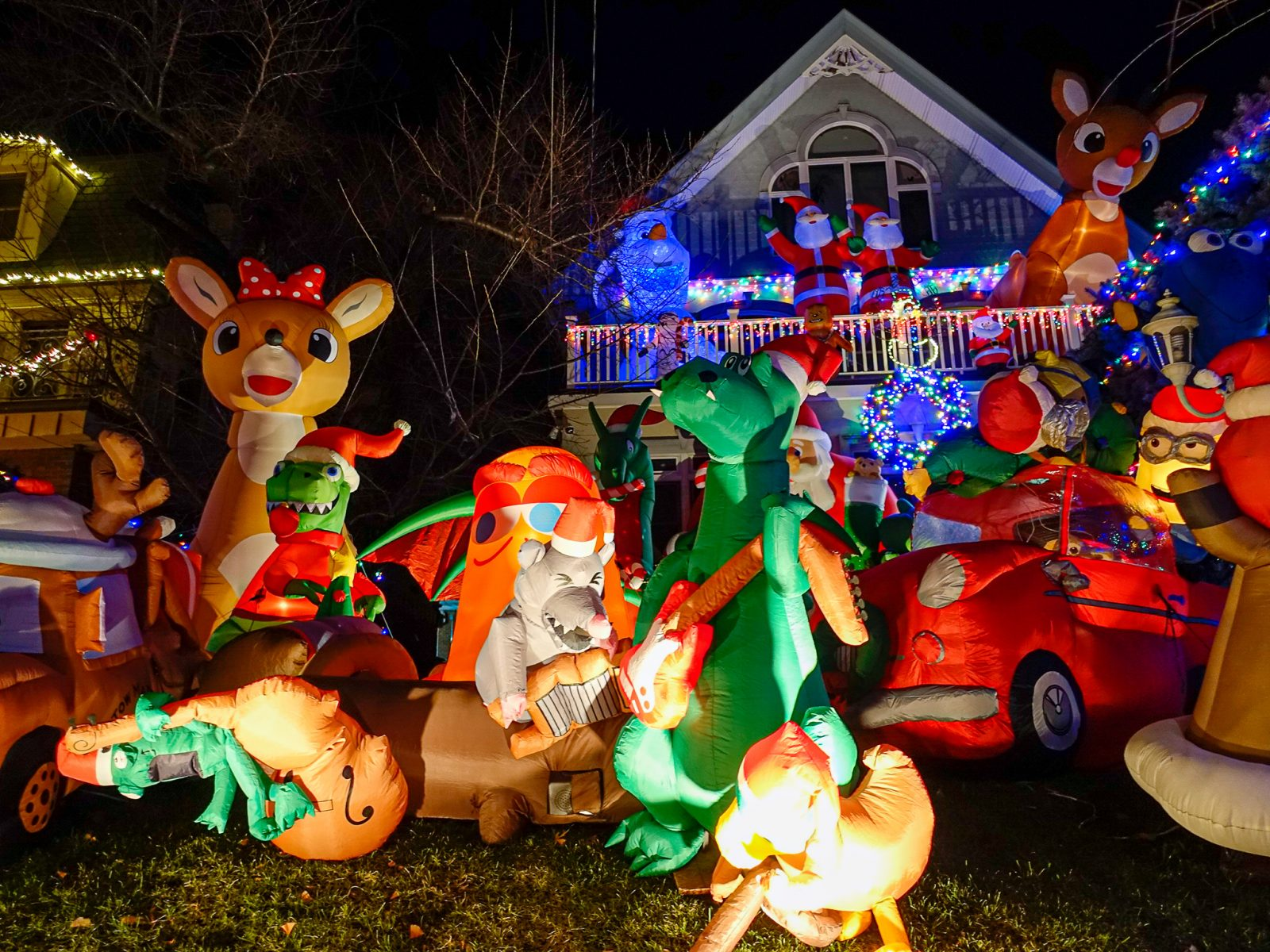 julefigurer oppblåsbare figurer