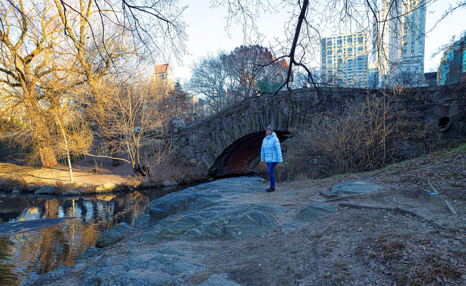 broen i central park der ugledamen turtelduene i alene hjemme filmen matet duene