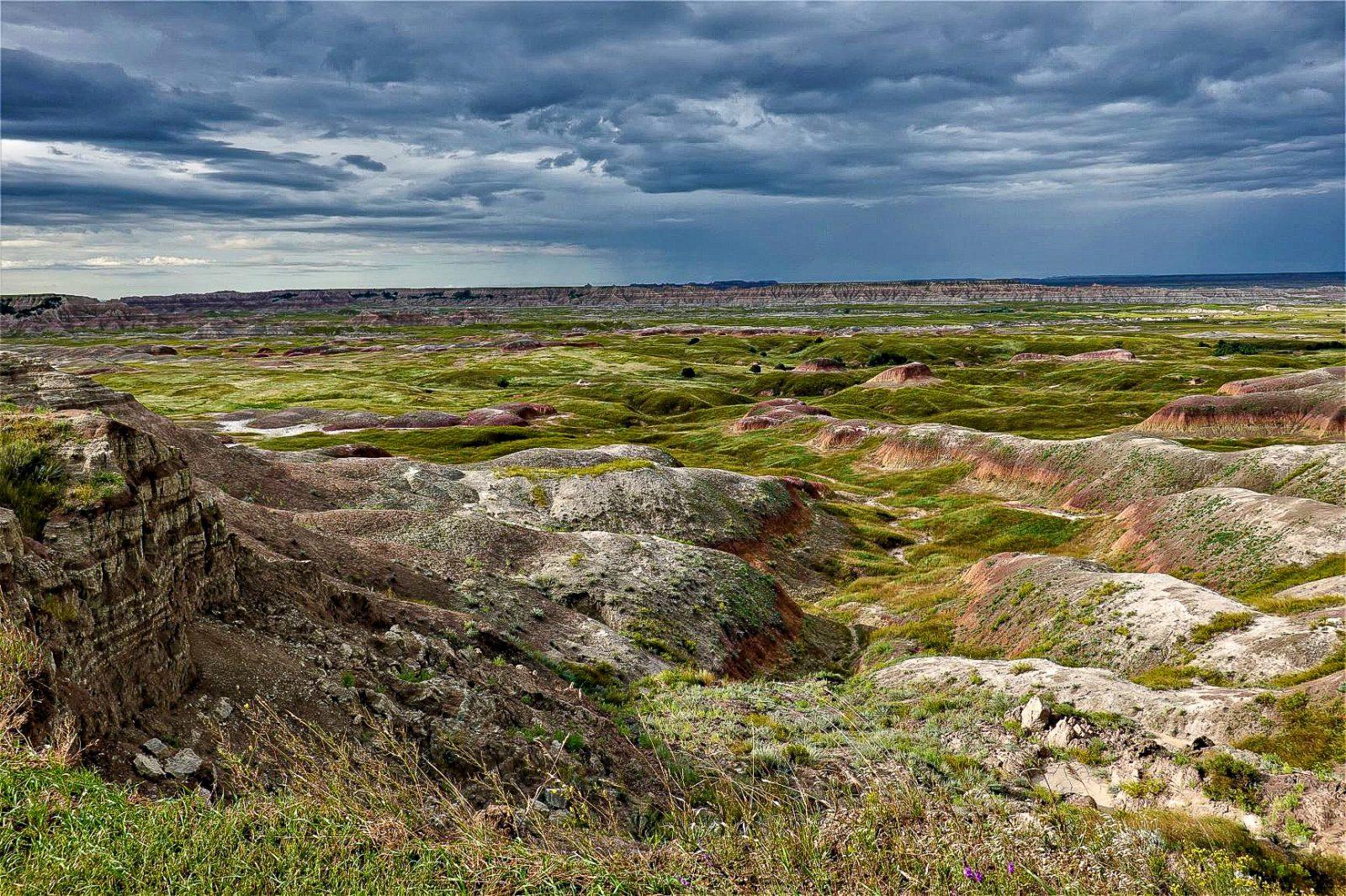 badlands nationalpark eroderte jordplater og præriegress