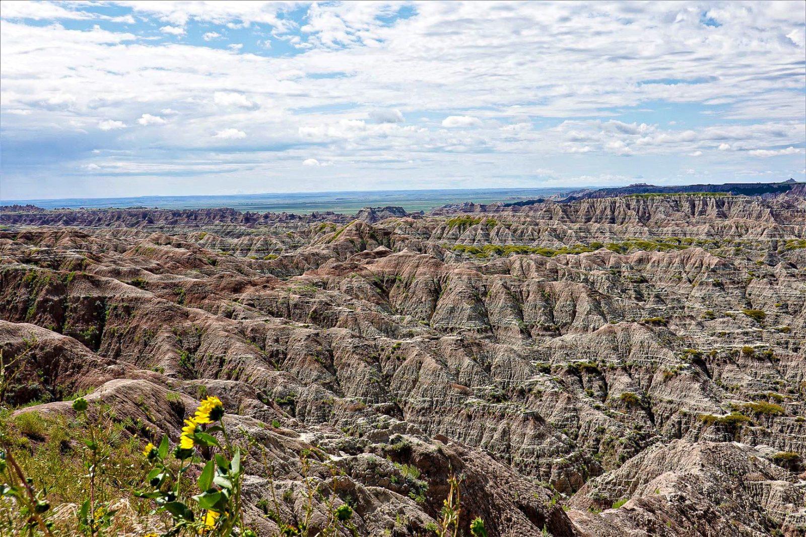 utsikten over badlands nationalpark