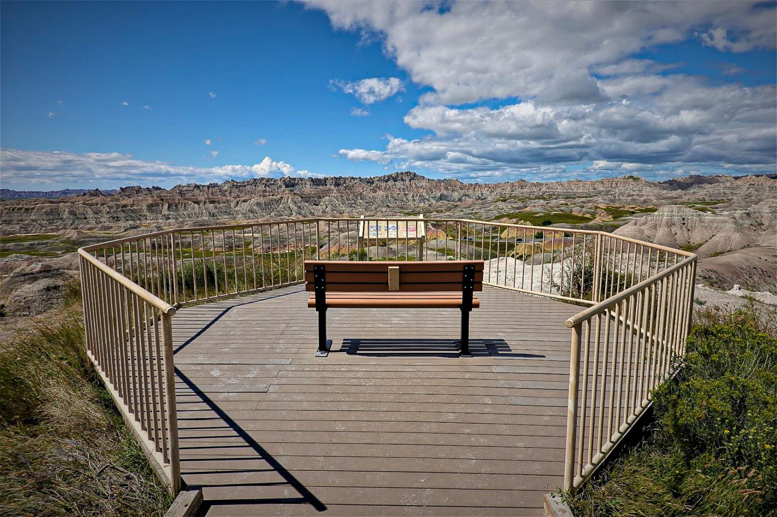 utsiktspunkt badlands nationalpark