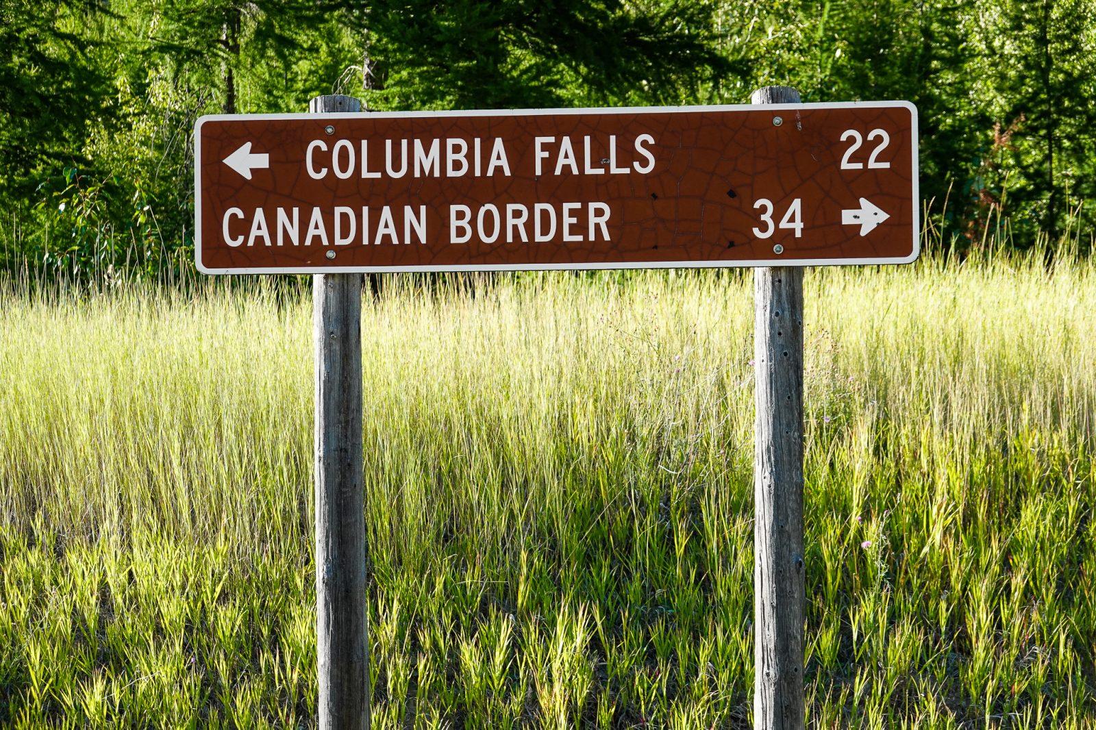 grensen til Canada