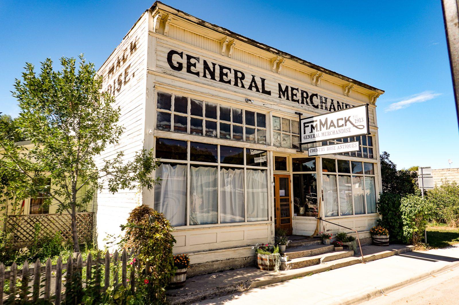 gammel butikk i usa