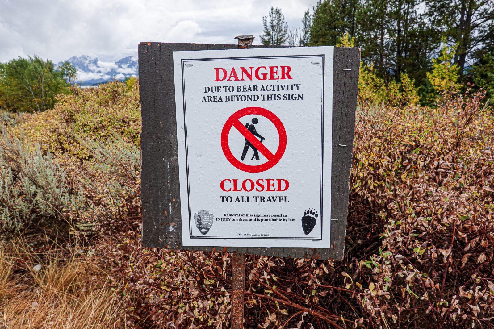 advarsel mot bjørn