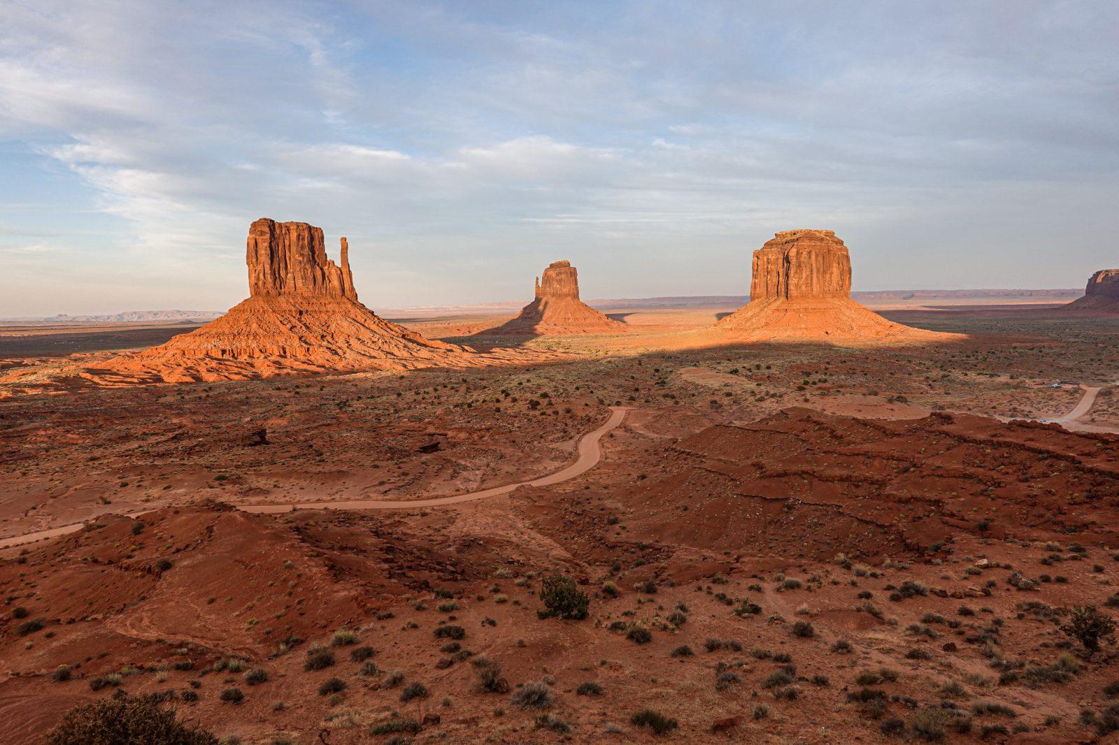 Oljato i solnedgang Utah USA